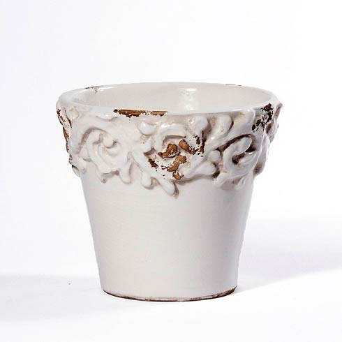 $44.00 Antique White Planter