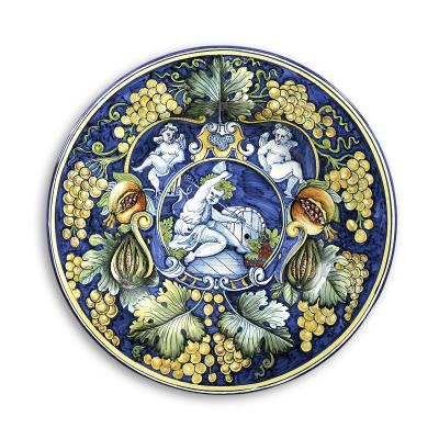 $715.00 Large Plate with Grape Accent
