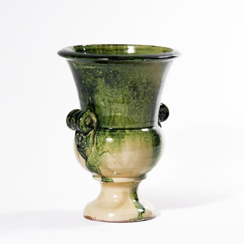 $75.00 Pompei Footed Green Pot