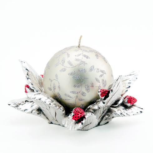 $216.00 Silver leaves candleholder
