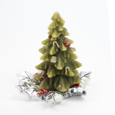 $143.00 Silver Christmas tree candleholder