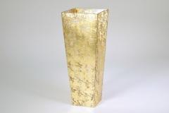 """Tamara Childs   16"""" Tapered Gold Wabisabi Vase $160.00"""
