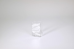 "$28.00 3.5""x2.25"" Swirl Mini Vase"