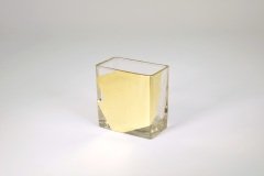 "Tamara Childs  Vases - Slash Short Vase - 4""x4""x2"" - Gold $38.00"