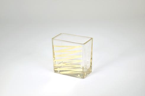 "Tamara Childs   4""x4""x2"" Short Zig Zag Vase $38.00"