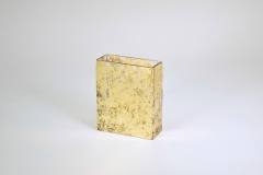 "Tamara Childs  Vases - Wabi Sabi Rectangular Vase - 6""x5""x2.5"" - Gold $50.00"