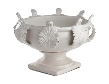 Abigails   Acanthus White Planter - Large $330.00
