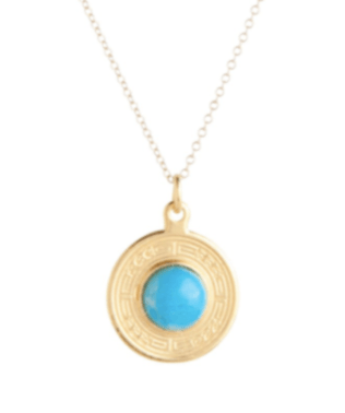 """$78.00 16"""" Charm Necklace - Turquoise"""