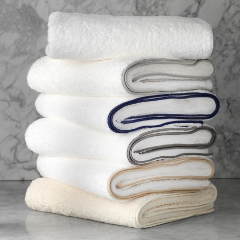 $63.00 Bath Towel - White on White