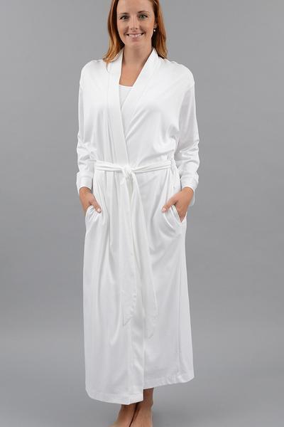 Kimono Robe, Long - White - Small