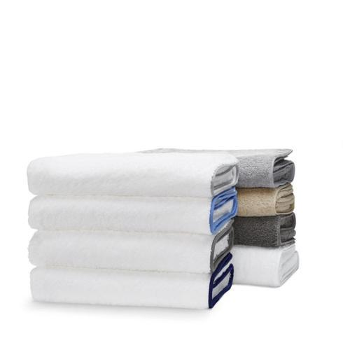 Matouk  Cairo Bath Towel - White w/ Azure Piping $65.00