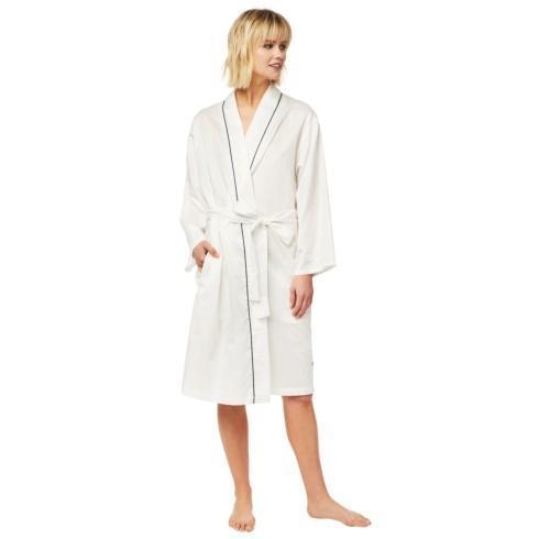$108.00 Classic White Robe Luxe Pima w/ Trim S/M