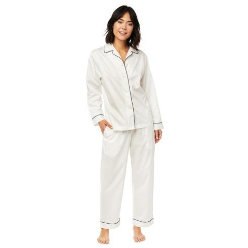 Classic White PJ Set Luxe Pima w/ Trim collection with 3 products