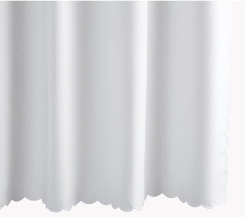 Matouk  Shower Curtains Diamond Pique - Scalloped Edge - White $174.00