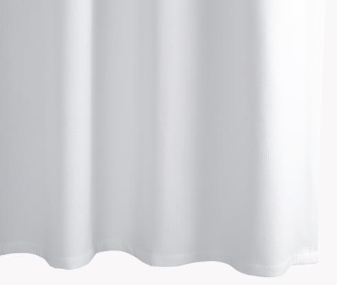 Matouk  Shower Curtains Diamond Pique - White $115.00