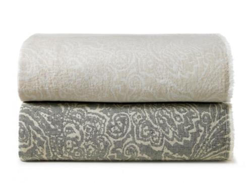 Peacock Alley   Fiore Linen Throw $98.00