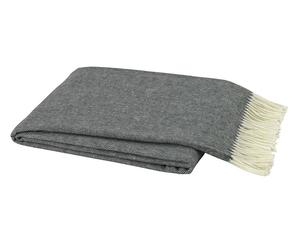 Ivy Cottage Exclusives  Lands Downunder Herringbone Throw - Charcoal $98.00