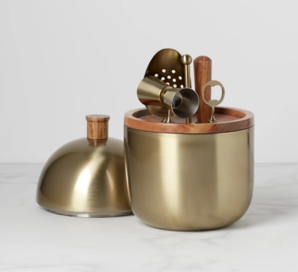 Lenox  Cocktail Party Collection Bar Tool Set - Brushed Gold $129.95