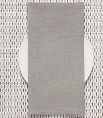 Chilewich   Linen Napkin Pale Grey $9.50