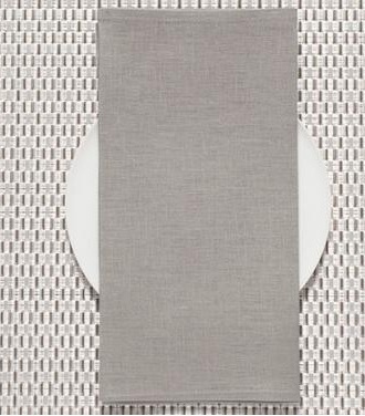 Chilewich   Linen Napkin Pale Grey $9.50