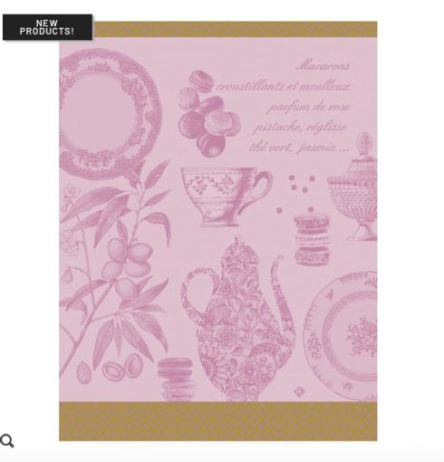 $25.00 Macarons Tea Towel - Rose
