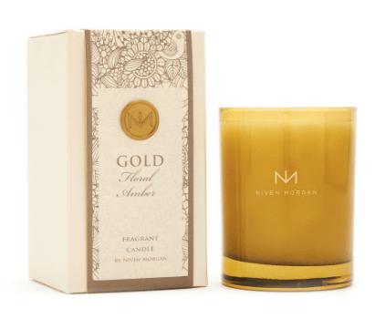 Niven Morgan  Gold Candle $35.00