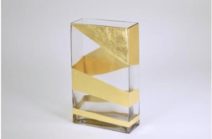 "Tamara Childs  Vases - Roadz Tall Vase - 10""x8"" - Gold $82.00"