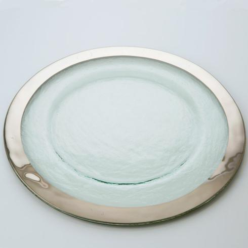 "$105.00 Roman Antique Platinum 13.5"" Charger - LIMITED AVAILABILITY"