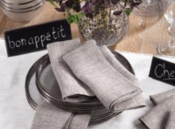$10.50 Heavy Linen Dinner Napkin - Natural
