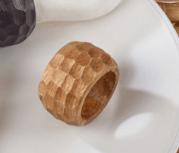 $7.00 Chunky Mango Wood Napkin Ring - Natural
