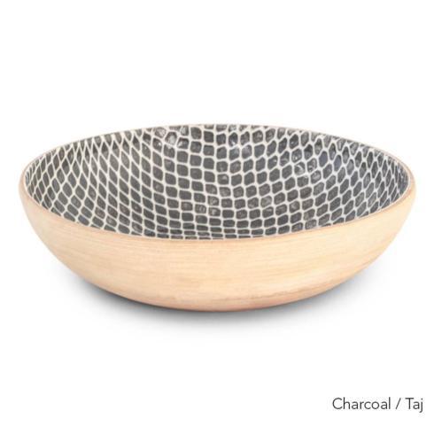 Terrafirma  Charcoal Medium Serving Bowl - Taj $154.00