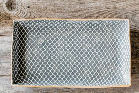 Terrafirma  Charcoal Medium Stacking Rectangular Tray - Taj $150.00