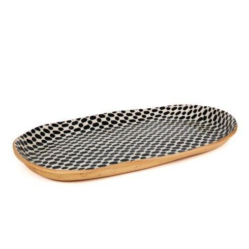 Terrafirma  Black Bread Tray - Dot $128.00