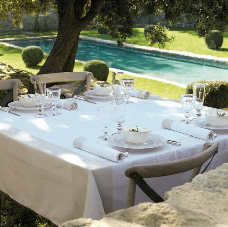 $219.00 Venezia Tablecloth - Ivory 69x69