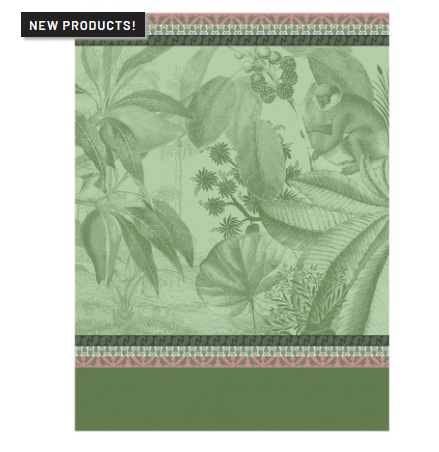 $25.00 Voyage au Kerala Tea Towel - Forest