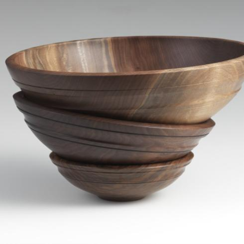 "$200.00 Willoughby 13"" Black Walnut Bowl"