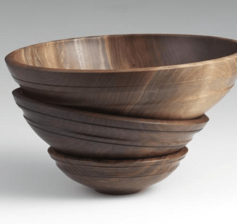 """Andrew Pearce   Willoughby 16"""" Black Walnut Bowl $450.00"""
