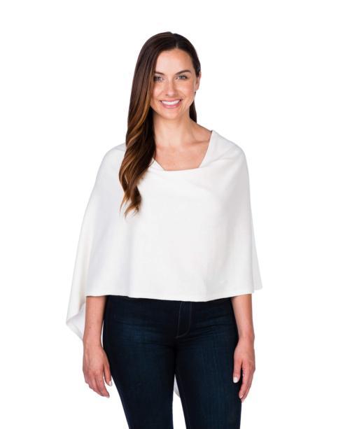 Cashmere Blend Dress Topper - White