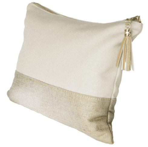 Large Linen Pouch - Bone w/ 3 Initial Monogram collection with 1 products