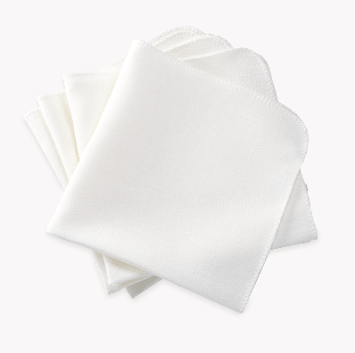 Matouk  Calypso Set/4 Dinner Napkins - White $124.00