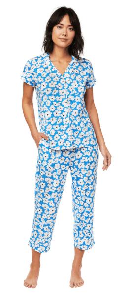 Harper Pima Knit Capri PJ Set