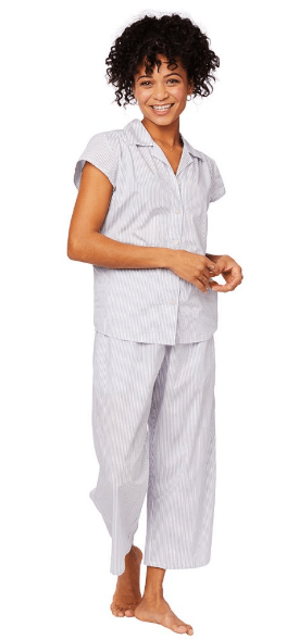 Simple Stripe Luxe Pima Capri PJ Set collection with 5 products