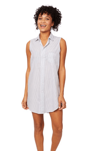 Simple Stripe Luxe Pima Sleveless Night Shirt collection with 5 products