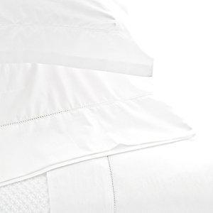 $166.00 Classic Hemstitch White Twin Sheet Set