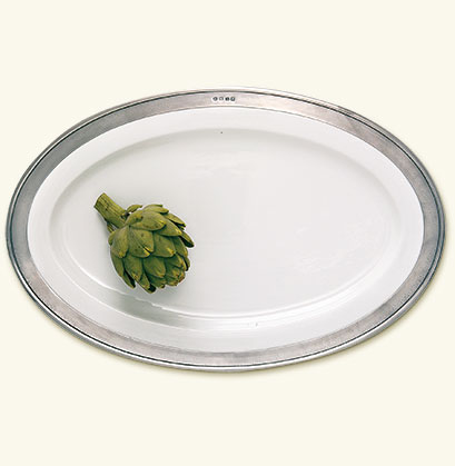 Match  Convivio Oval Large Serving Platter $420.00