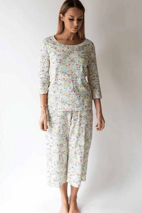 $62.00 English Floral - Capri PJ Set  Lg