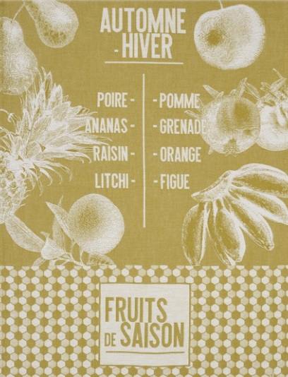 De Saison Fruits Tea Towel - Mustard collection with 1 products