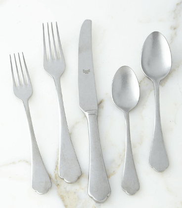 $74.00 Dolce Vita - 5 Piece Place Setting - Pewter Finish
