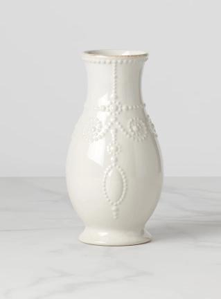 """Lenox  French Perle White 8"""" Fluted Vase $24.95"""