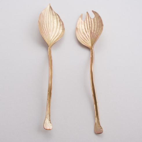 $70.00 Gold Hosta Salad Servers